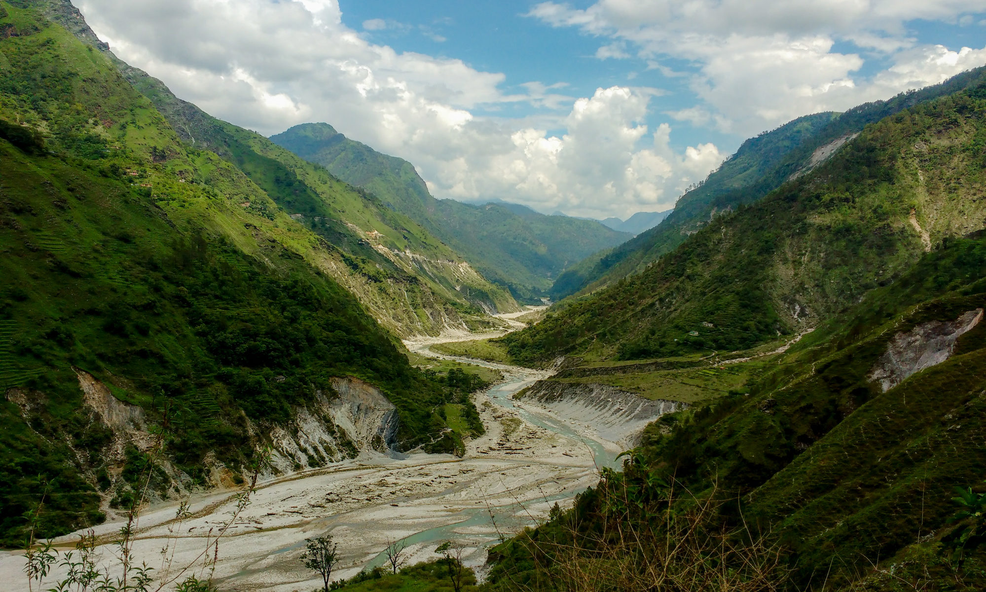 Glacial Lake Outburst Flood (GLOF) Drowns Villages Along Its Path In The Central Himalayas